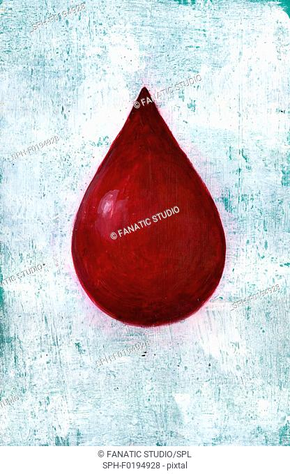 Illustration of blood drop