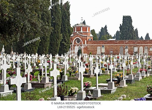 Cemetery island San Michele, Venice, Veneto, Italy