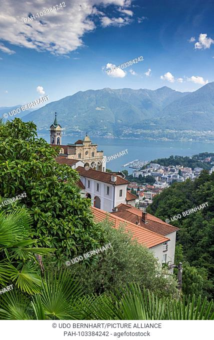 Switzerland Ticino Locarno Madonna del Sasso 2 August 2017 | usage worldwide. - Locarno/Tessin/Switzerland