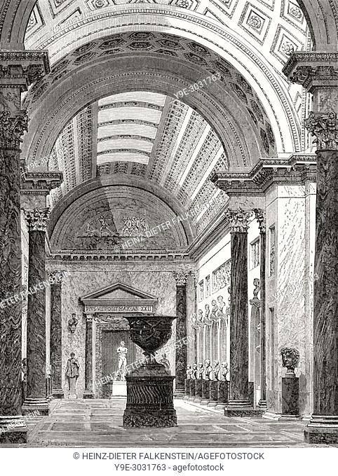 Braccio Nuovo, Museo Chiaramonti, Vatican Museums, Vatican City, Rome, Italy, 19th Century