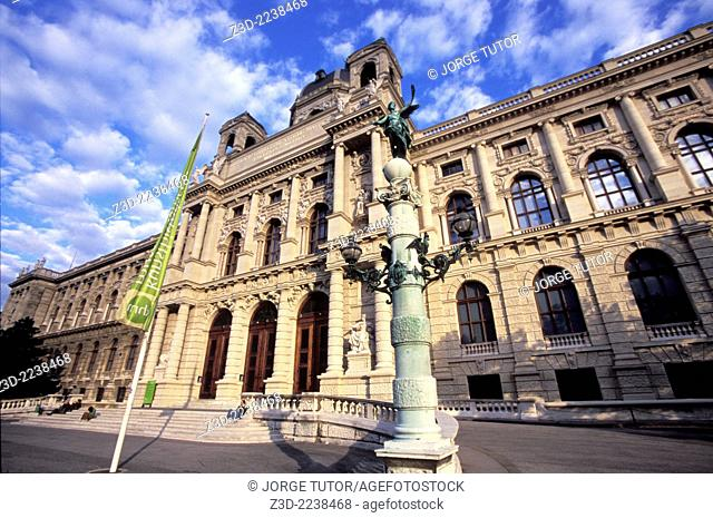 Main entrance of the Kunsthistorisches Museum, Vienna, Austria