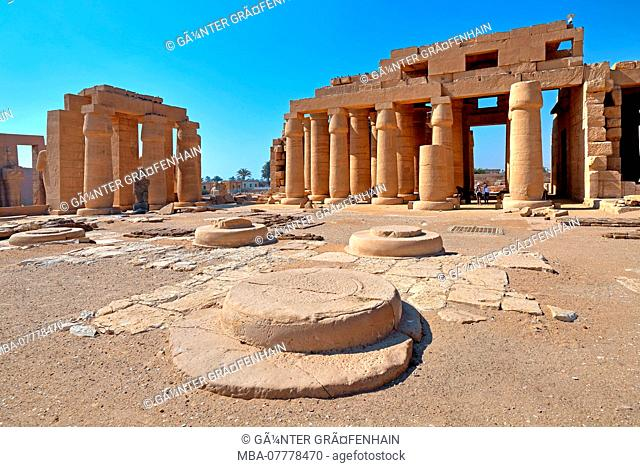 Ramesseum, Temple of the Dead of Ramses II in Thebes-West, Luxor, Upper Egypt, Egypt