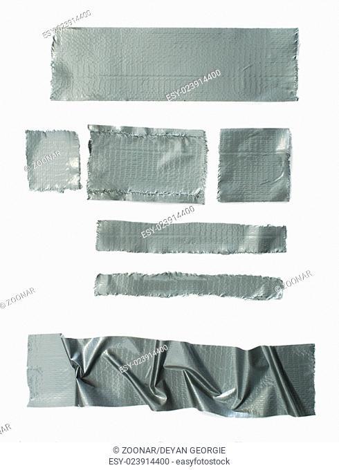 Set of torn masking Scotch tape