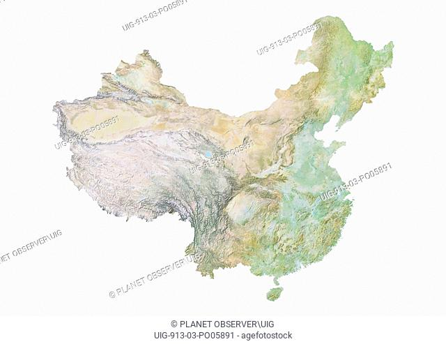 China, Relief Map