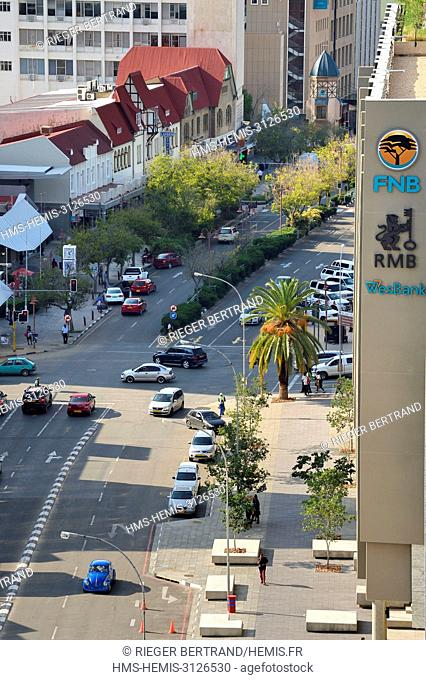 Namibia, Khomas region, Windhoek, Independence Avenue and its buildings from the German colonial era