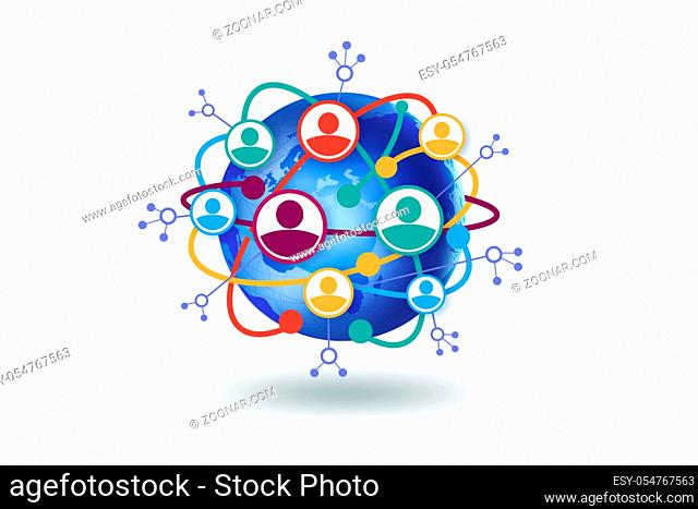 The social networking concept - 3d rendering