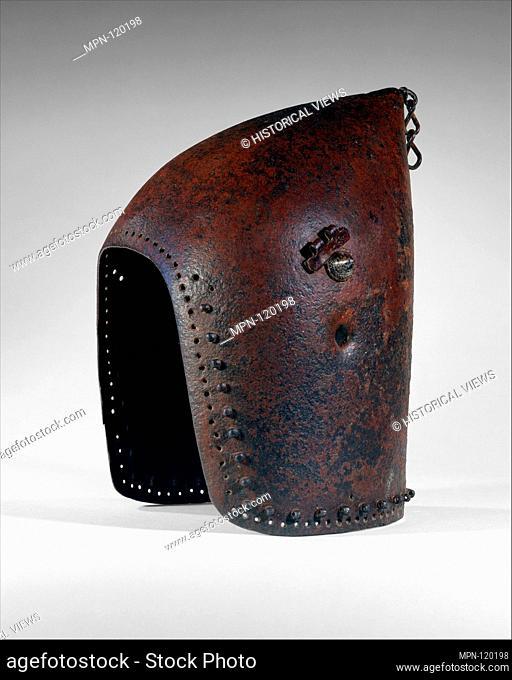 Bascinet. Date: ca. 1375-1425; Culture: possibly French; Medium: Steel; Dimensions: H. 11 7/8 in. (30.2 cm); W. 7 1/4 in. (18.4 cm); D. 8 1/4 in