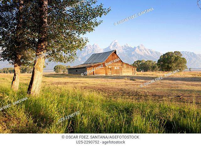 Mormon Row, Grand Teton National Park, Jackson, Wyoming, USA