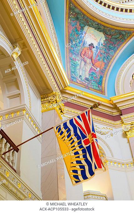 Interior detail, British Columbia, Legislature, Victoria, British Columbia, Canada