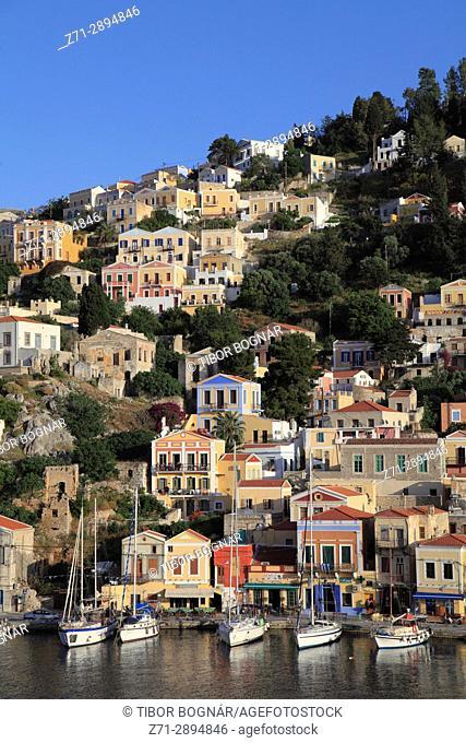 Greece, Dodecanese, Symi, Gialos, harbour,