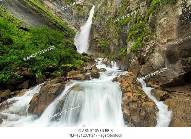 Gössnitz / Gößnitz waterfall / Goessnitz waterfall near Heiligenblut, Hohe Tauern National Park, Austrian Alps, Carinthia / Kärnten, Austria