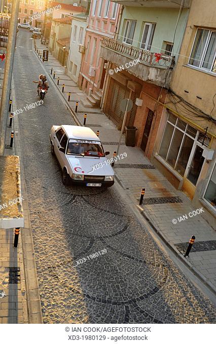 Quiet street in Canakkale, Turkey