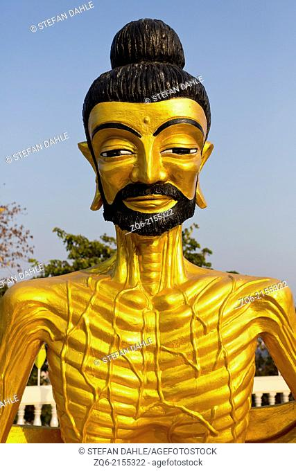 Buddha Statue in the Wat Phra Yai Temple in Pattaya, Thailand