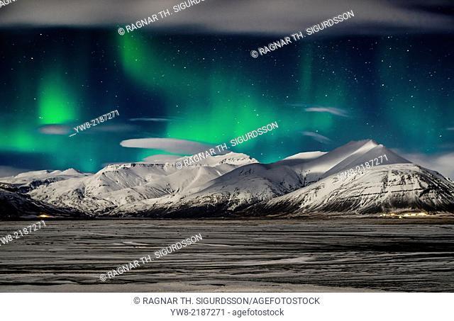 Aurora Borealis, Hornafjordur, Eastern Iceland