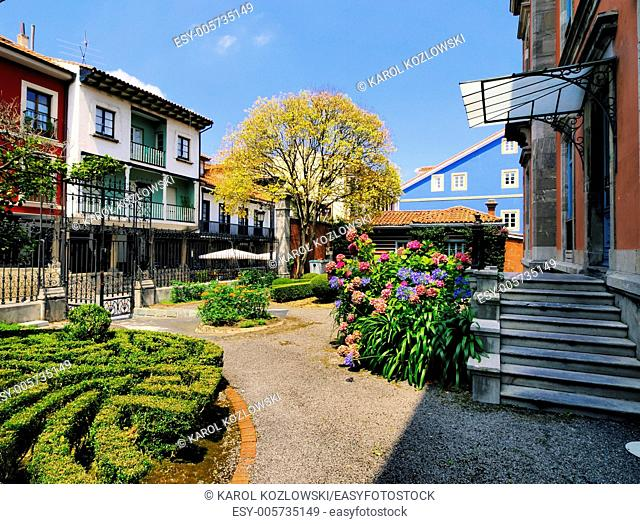 Beautiful garden in Aviles, Asturias Region, Spain