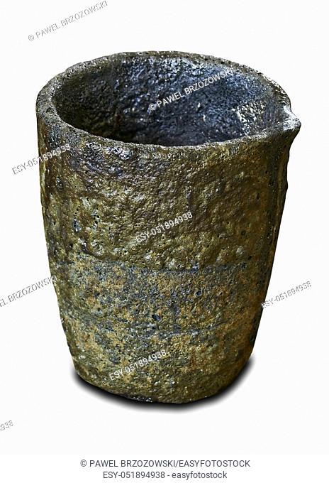 Melting pot to melt metal isolated on white background