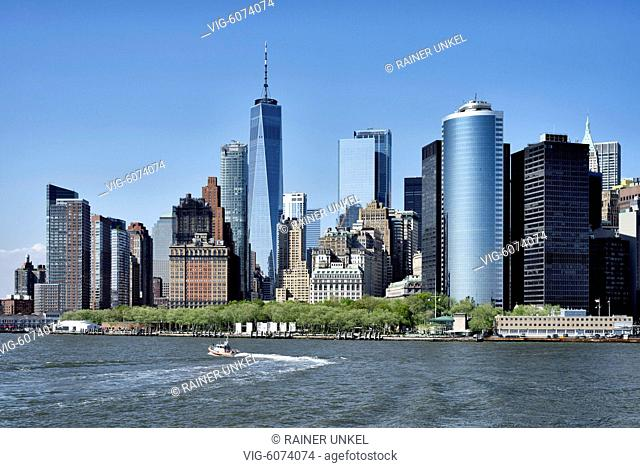 USA : View of Manhattan in New York , 08.05.2018 - New York, New York, USA, 08/05/2018