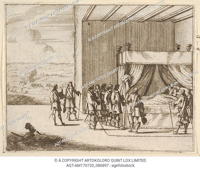 Francesco I d'Este, Wounded in Battle, Continues to Orchestrate the Seige of Pavia, from L'Idea di un Principe ed Eroe Cristiano in Francesco I d'Este