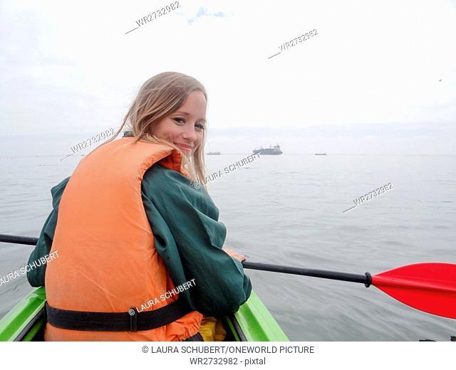 Namibia, Erongo, Walvis Bay, Seal Kayak Tour