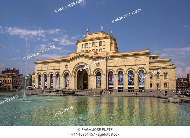 Armenia, South Caucasus, Caucasus, Eurasia, building, History, Gallery, Republic, Yerevan, architecture, downtown, fountain, museum, national, square