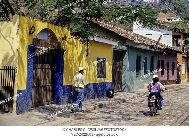 Honduras, Copan. Street Scene