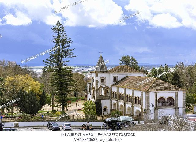 Dom Manuel Palace in the Public Garden of Evora, Alentejo Region, Portugal, Europe