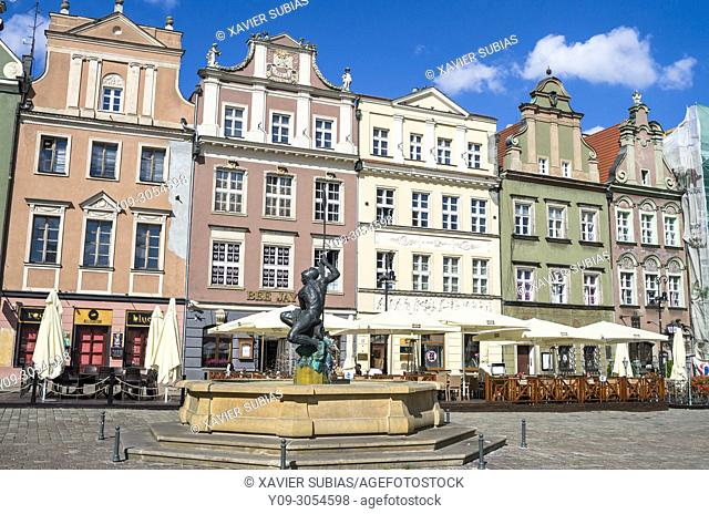 Mars fountain, Old Town Square, Poznan, Poland