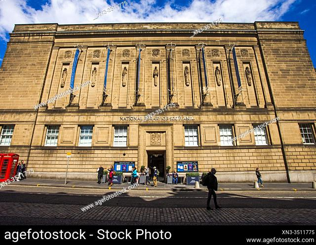 National Library of Scotland, 57 George IV Bridge, Old Town, Edinburgh, Scotland, United Kingdom, Europe