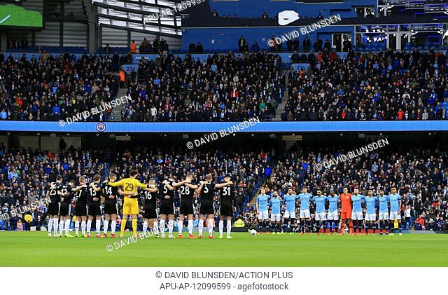 2019 FA Cup Football 4th Round Man City v Burnley Jan 26th. 26th January 2019, Etihad Stadium, Manchester, England; FA Cup football, 4th round