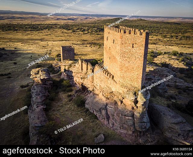 Zafra castle, 12th century, Campillo de Dueñas, Guadalajara, Spain