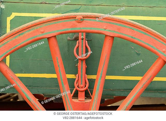 Wagon wheel, Great Oregon Steam-Up, Antique Powerland, Brooks, Oregon