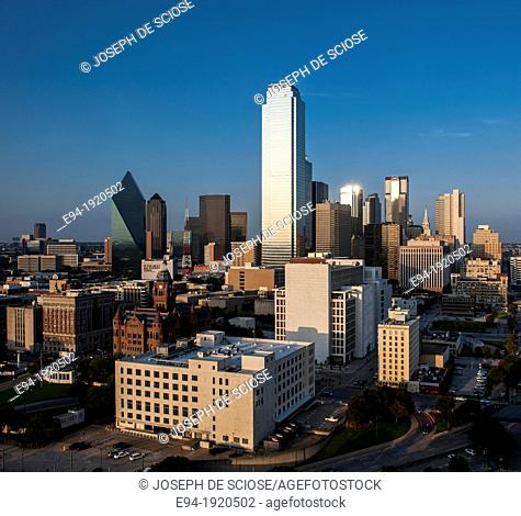 Partial view of the downtown skyline, Dallas, Texas, USA