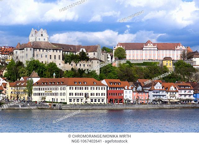 Burg Meersburg, Old Castle and Neues Schloss, New Castle, Meersburg, Lake Constance, Baden-Wuerttemberg, Germany, Europe