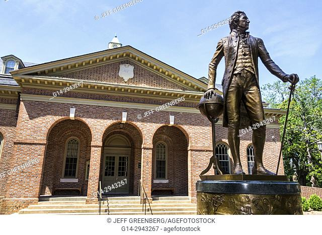 Virginia, Colonial Williamsburg, 18th-century America, College of William & Mary, university, historic campus, Tucker Hall, exterior, President James Monroe