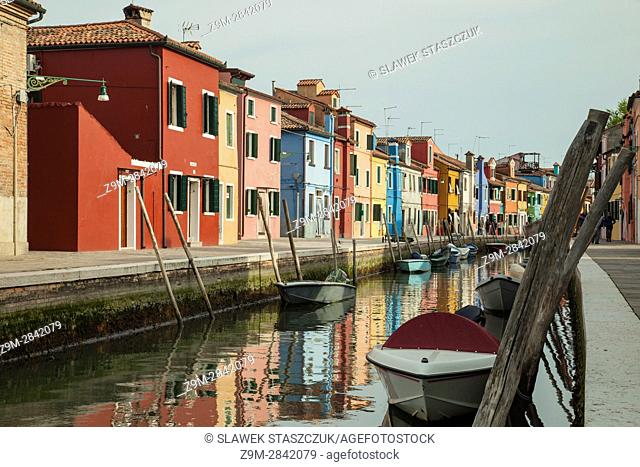 Spring afternoon on the island of Burano, Venice, Italy