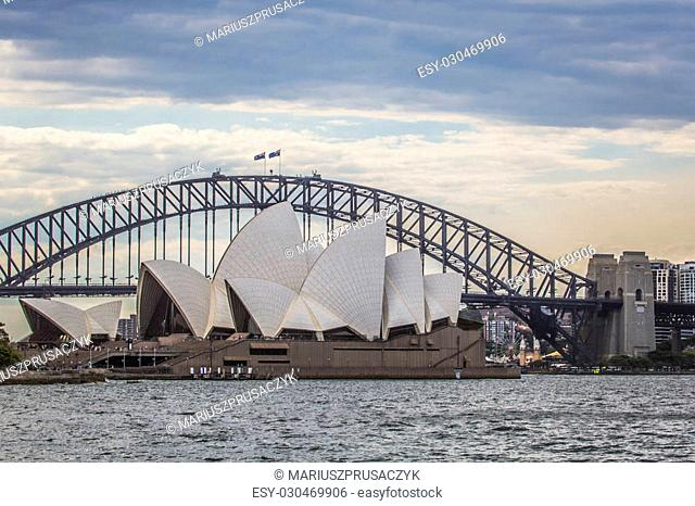 SYDNEY - OCTOBER 25: Sydney Opera House view on October 25, 2015 in Sydney, Australia. The Sydney Opera House is a famous arts center