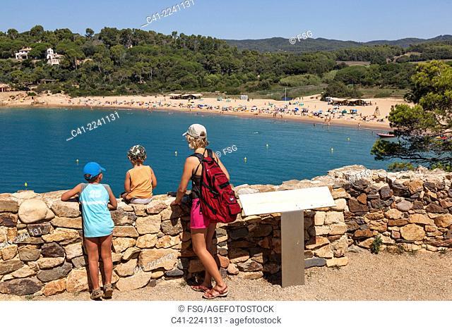 Beach of El Castell. Costa Brava, Girona. spain