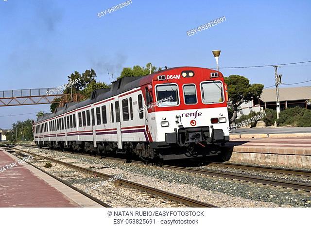 Commuter train, Crevillent, Spain
