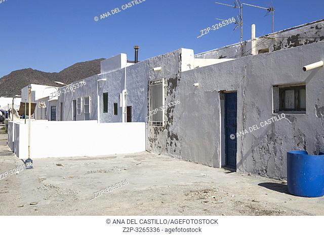 Ruined village in Almeria La Almadraba de Monteleva Andalusia Spain