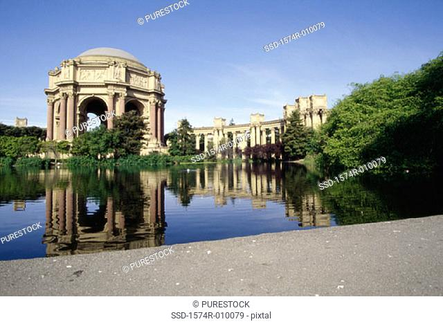 Palace of Fine Arts  San Francisco California USA