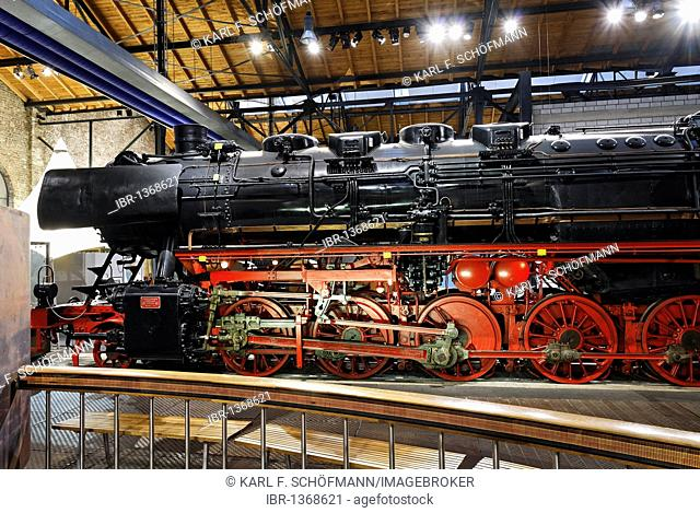Steam locomotive of the 50 line, built in 1941 by Krupp, disused Altenberg zinc factory, LVR Industriemuseum industrial museum, Oberhausen, Ruhrgebiet region