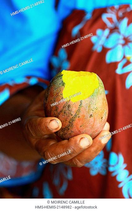 France, New Caledonia, the Loyalty Islands, Lifou, Lossi District Wei, market, mangoes