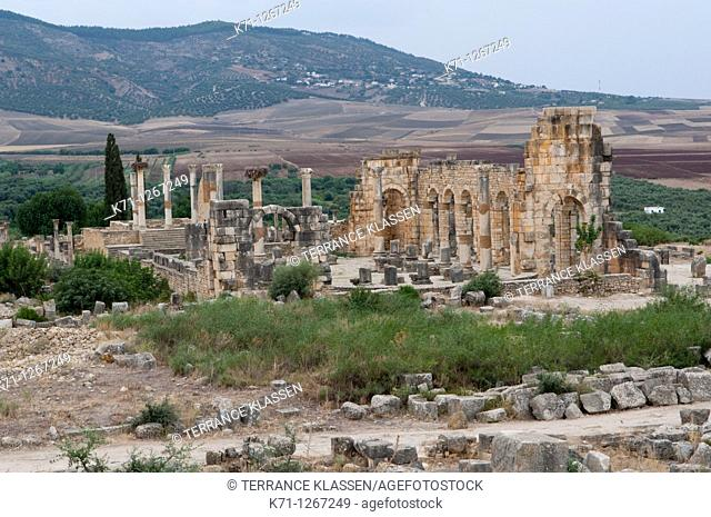 Ruins of the Roman Volubilis near Moulay Idriss, Morocco