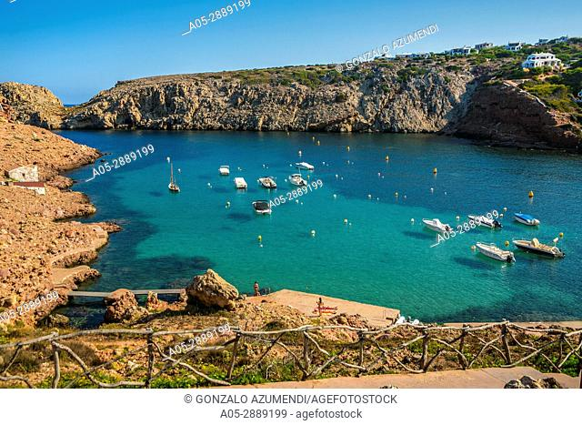 Cala Morell Bay. Ciutadella de Menorca Municipality. Minorca. Balearic Islands. Spain