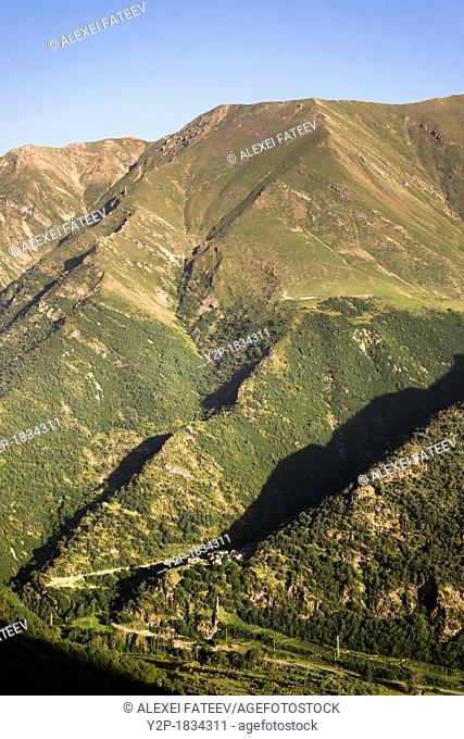 Cardet village in Vall de Boi valley in Spanish Pyrenees