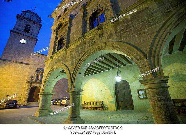 Town hall, Arnes, Terra Alta, Tarragona, Catalonia, Spain