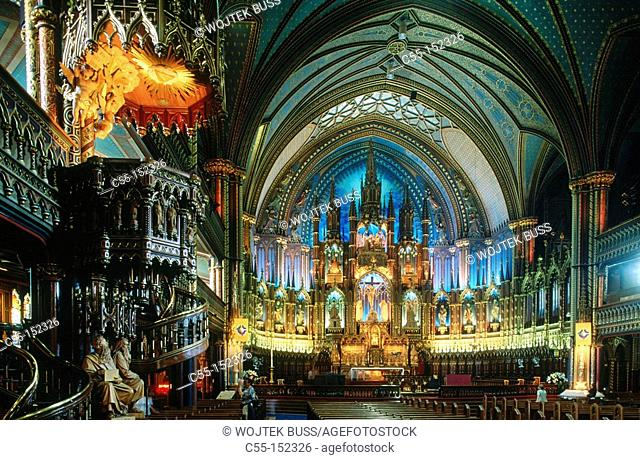 Canada. Quebec. Montreal. Notre Dame Cathedral
