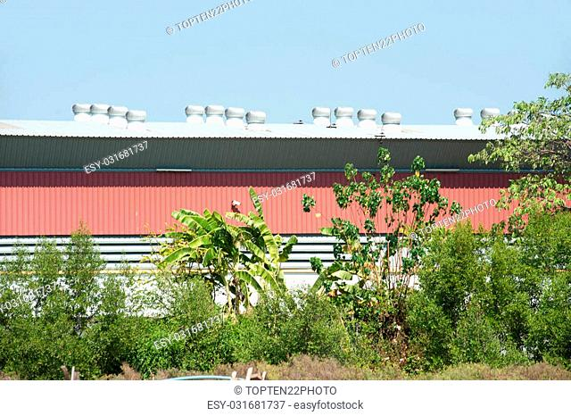 Wind driven on the roof of factory