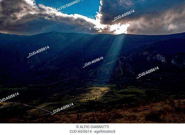 Sella del Corticato, Vallo di Diano, Cilento, Italy, Europe