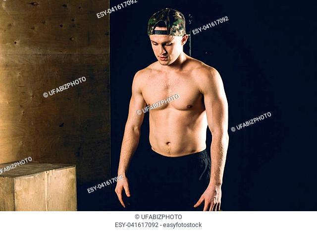 Portrait Of A Physically Fit Man In A Health Club